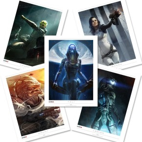 Mass Effect Lithographs gives our living room some POW!