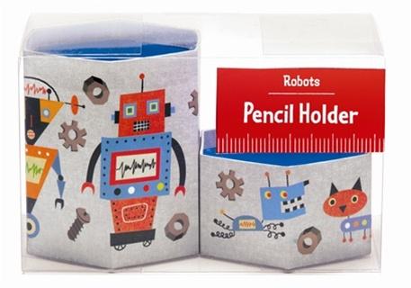 robot pencil cup