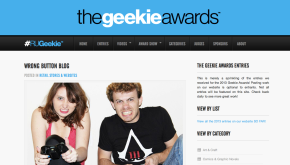 Wrong Button has won a Geekie Award!